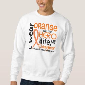 Naranja para la esclerosis múltiple del ms de la sudadera