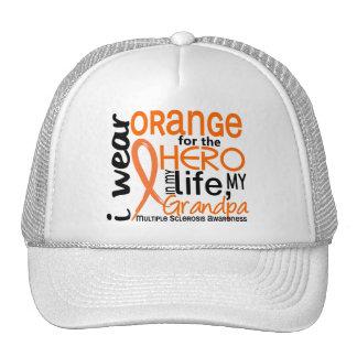 Naranja para la esclerosis múltiple del ms del abu gorros bordados