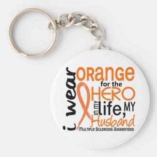 Naranja para la esclerosis múltiple del ms del mar llavero personalizado