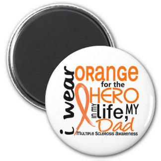 Naranja para la esclerosis múltiple del ms del pap imán redondo 5 cm