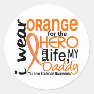 Naranja para la esclerosis múltiple del ms del etiqueta redonda