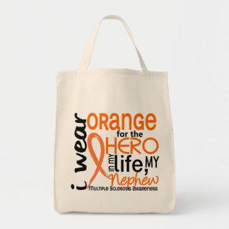 Naranja para la esclerosis múltiple del ms del sob bolsa tela para la compra