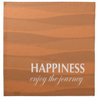 Naranja para la felicidad servilleta