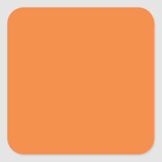 Naranja Calcomanías Cuadradass