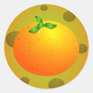 Naranja Pegatinas