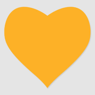 Naranja Pegatina En Forma De Corazón