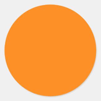 Naranja Pegatina Redonda
