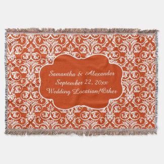 Naranja personalizado del personalizado del manta