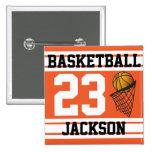 Naranja personalizado y blanco del baloncesto