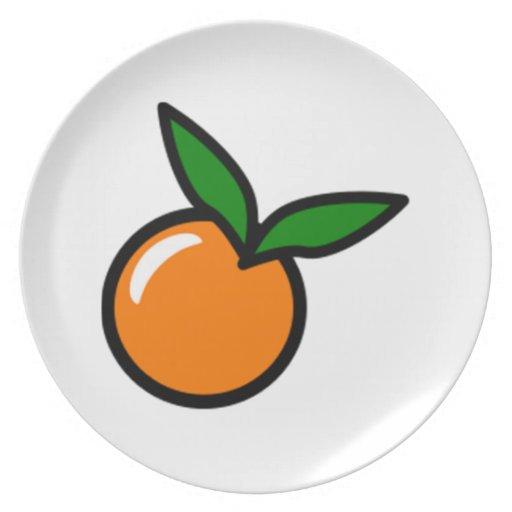 Naranja Plato De Comida