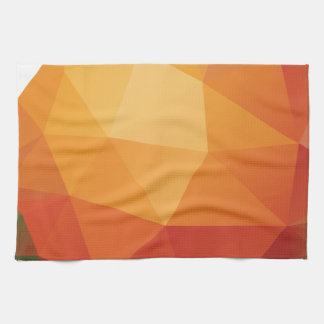 Naranja poligonal toalla de cocina
