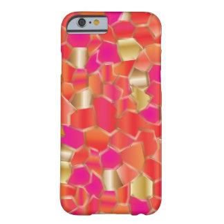 Naranja popular del mosaico y diseño del rosa funda barely there iPhone 6