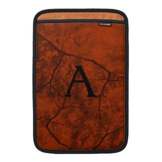 Naranja profundo con las ramas negras funda macbook air