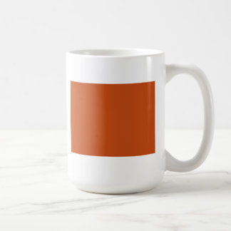 Naranja quemado tazas