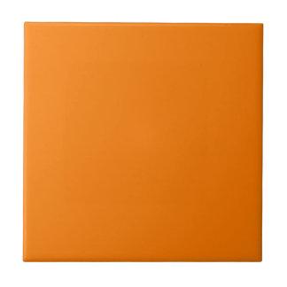 Naranja quemado vivo azulejo cuadrado pequeño