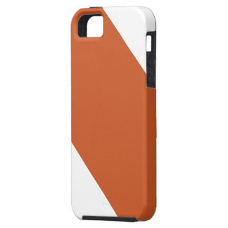 Naranja quemado y crema rayados iPhone 5 carcasa