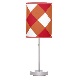 Naranja quemado y lámpara Diamante-Modelada rojo