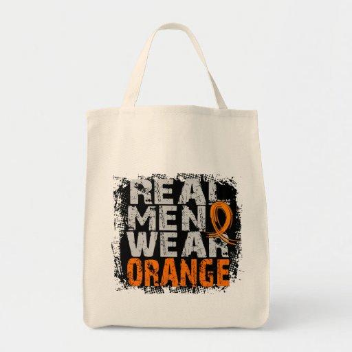 Naranja real del desgaste de hombres de la esclero bolsas