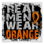 Naranja real del desgaste de hombres de RSD Poster