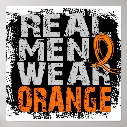 Naranja real del desgaste de hombres de RSD Póster