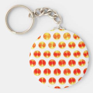 Naranja redondo simple de la moda del estilo del c llavero