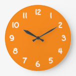 Naranja Reloj De Pared