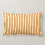 Naranja retro rayado almohadas