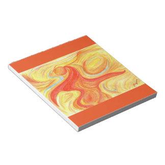 Naranja rojo de la libreta del arte abstracto de libreta para notas