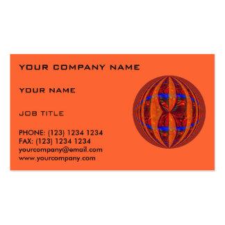 Naranja rojo de la tarjeta de visita del orbe