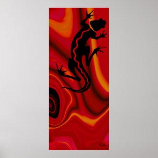Naranja rojo del Salamander el   de Malibu Póster
