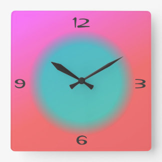 Naranja rosado mezclado, reloj verde de