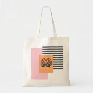 Naranja rosado Negocio-Blanco y negro de la bolsa