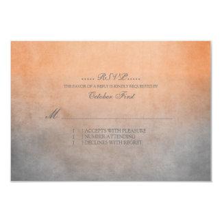 Naranja rústico y RSVP que se casa bohemio gris Comunicado Personalizado