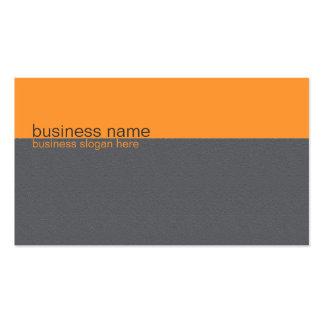 Naranja simple elegante llano/raya gris plantilla de tarjeta personal