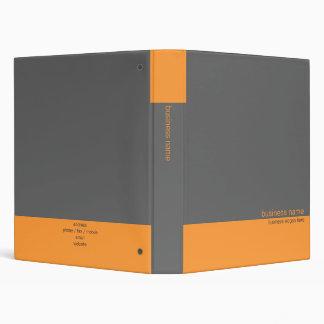 "Naranja simple moderno elegante llano/raya gris carpeta 1"""