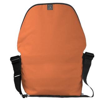 Naranja sólido de la nectarina bolsas de mensajeria