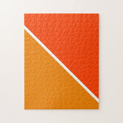 Naranja sombreado dos puzzle con fotos