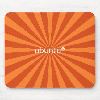 Naranja StarBurst de Ubuntu Linux Alfombrillas De Raton