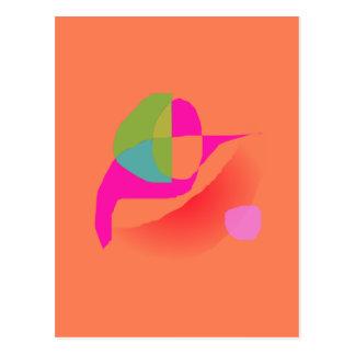 Naranja suave abstracto postal