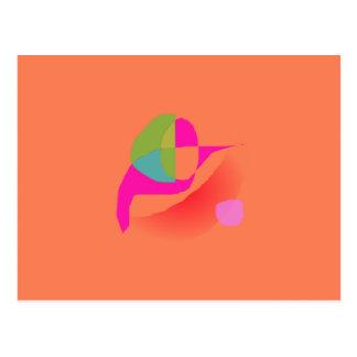 Naranja suave abstracto tarjetas postales
