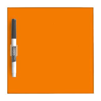 Naranja Tablero Blanco