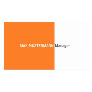 Naranja tarjeta de presentación tarjetas de negocios