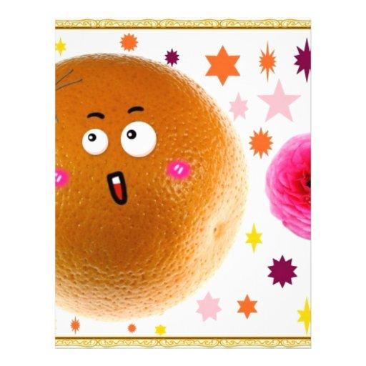 naranja tarjetas informativas