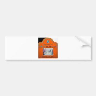 Naranja Torquise de Shaftesbury Pegatina Para Auto