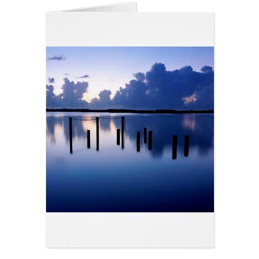Naranja tranquilo la Florida del puerto del agua Tarjeta De Felicitación