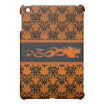 Naranja tribal 2 iPad mini carcasa