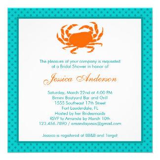 Naranja/trullo nupciales náuticos de la invitación