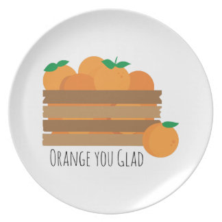 Naranja usted alegre platos de comidas