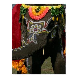 Naranja usted elefante asiático alegre tarjetas postales