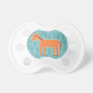 Naranja usted unicornio chupete